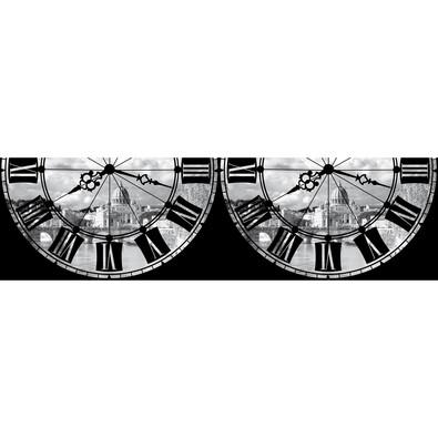 Római óra öntapadós bordűr tapéta, 500 x 14 cm