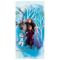 Prosop Jerry Fabrics Regatul de gheață Frozen 2 blue, 70 x 140 cm