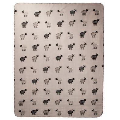 Pătură fleec Oiţe, gri, 130 x 170  cm
