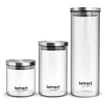 Lamart LT6025 3dílná sada skleněných dóz Peut
