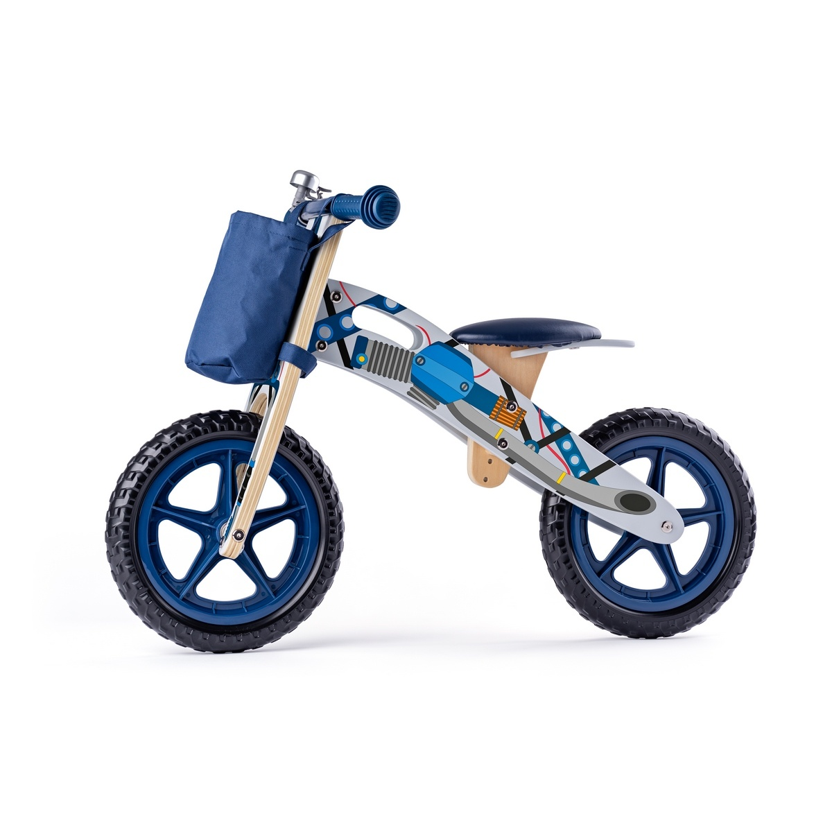 Woody Odrážadlo motorka, modrá