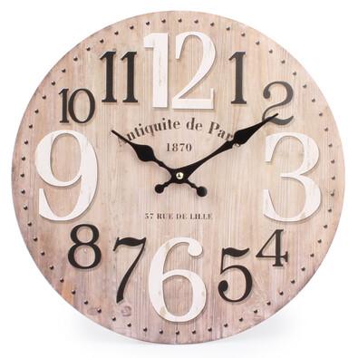 Nástěnné hodiny velké číslice Natural