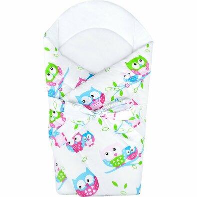 New Baby gyermek pólya kókusz töltettel, Baglyok, 75 x 75 cm