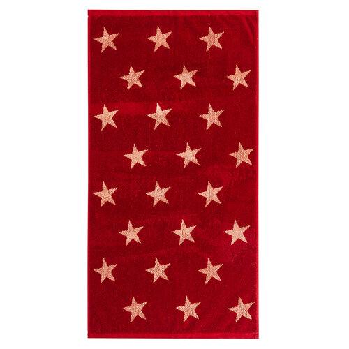Uterák Stars červená, 50 x 100 cm