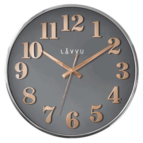 LAVVU HOME Grey LCT1161 Nástěnné hodiny