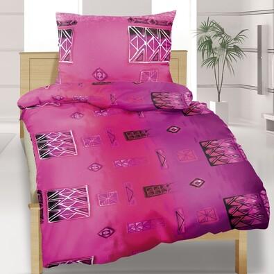 Bavlněné povlečení Patchwork fialová, 140 x 200 cm, 70 x 90 cm