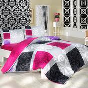 Bavlněné povlečení Sedef růžová, 140 x 220 cm, 70 x 90 cm