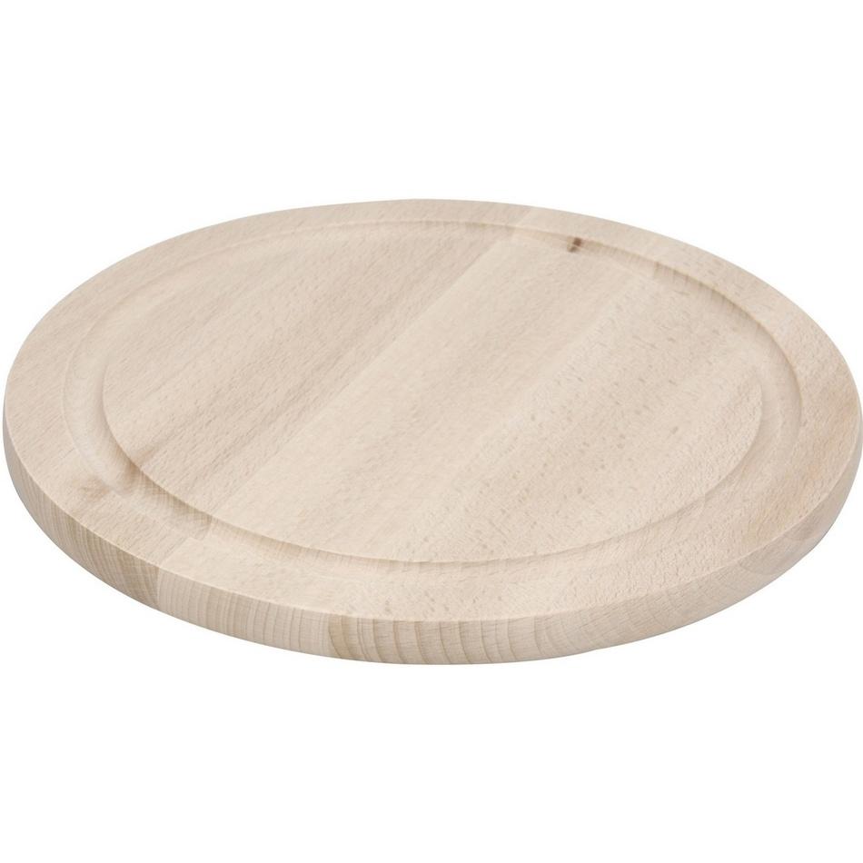 Okrúhla doštička z bukového dreva Excellent, pr. 25 cm