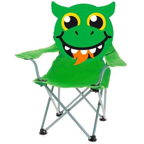 Dětská skládací židle Dragon, zelená