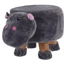 Taburet pentru copii Hipopotam, 44 x 28 x 24 cm