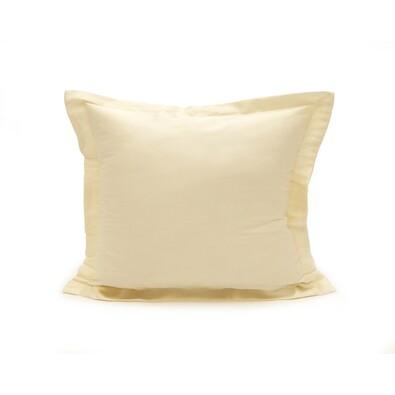 Povlak na polštářek s lemem satén smetanová, 50 x 70 cm