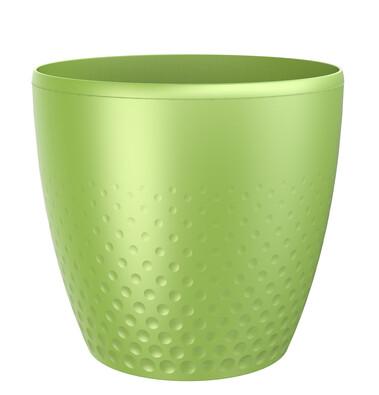 Perla műanyag kaspó, 25 cm, zöld