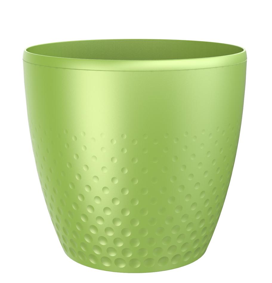 Plastový květináč Perla 25 cm, zelená, Plastia