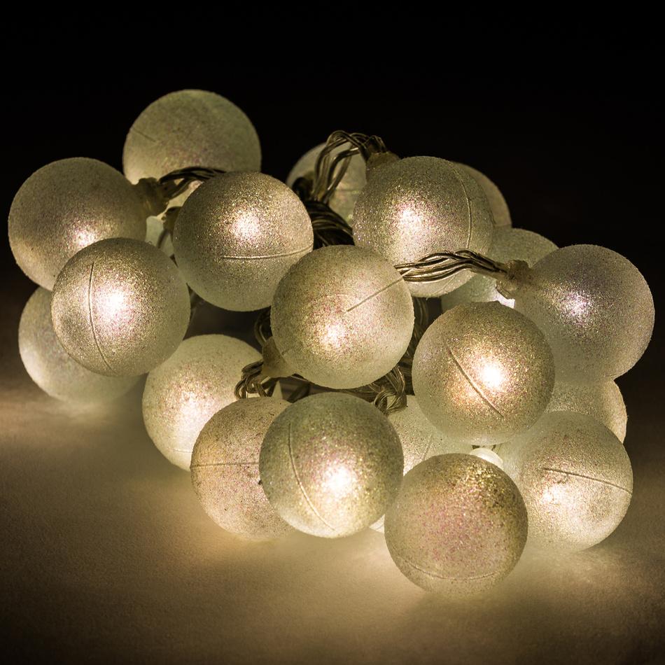 Dekorační světelný řetěz Balls, 20 LED