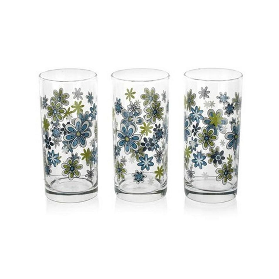 Istanbul Pohár modré kvety 3 ks, 290 ml