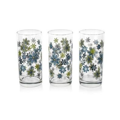 Istanbul Sklenice modré květy 3 ks