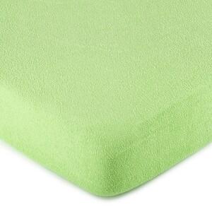 4Home froté prostěradlo zelená, 180 x 200 cm