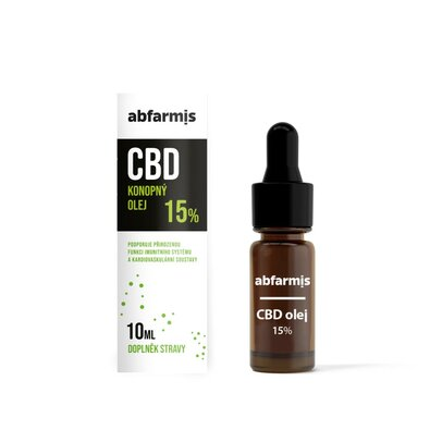 Abfarmis CBD olej 15%, 10 ml