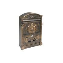 Poštovní hliníková schránka Vintage, zlatá