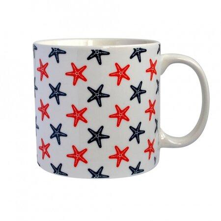 Toro Porcelánový hrnek s námořním vzorem 550 ml, hvězdy