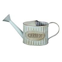 Konewka blaszana ze spryskiwaczem Garden retro niebieski , 38 cm