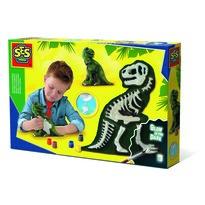 Ses Kreatywny komplet gipsowy Świecące kości T-rex