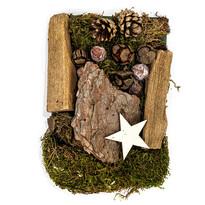Potpourri decorativ cu mușchi, conuri de pin și lemne 150 g, natural