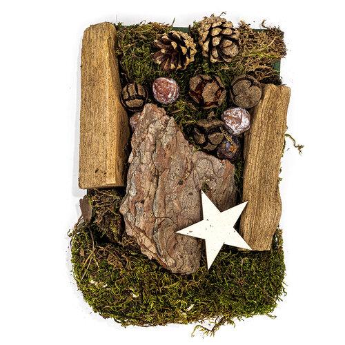 Dekoracyjne potpourri z mchem , szyszkami i drewienkami 150 g, naturalny