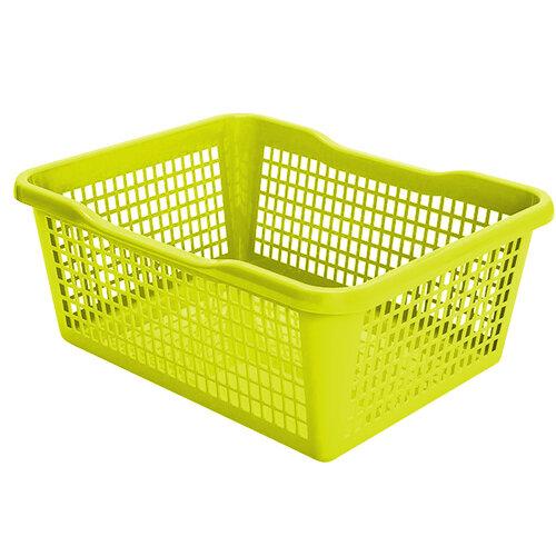 Plastový košík 41,9 x 32 x 16,8 cm, zelená