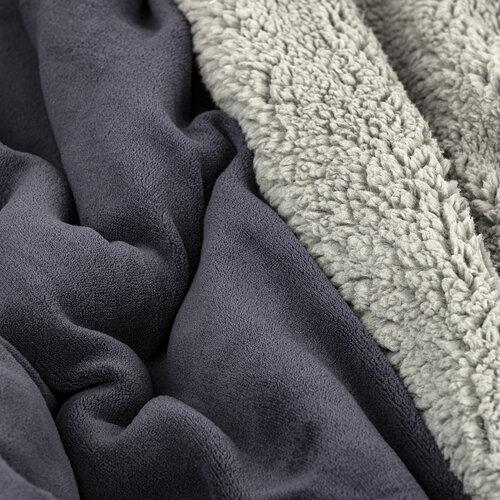 4Home Beránková deka světle šedá/antracit, 150 x 200 cm