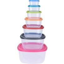 Set de recipiente de plastic, 7 buc
