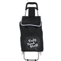 Nákupní taška na kolečkách Only Good Stuff, černá