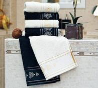 Ručník Sandra černá, 50 x 90 cm, sada 2 ks