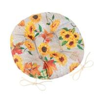 Pernuță rotundă Bellatex Ema Floarea soarelui, 40 cm