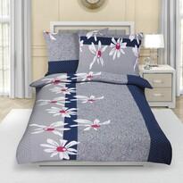 Lenjerie de pat din crep Margaretă gri