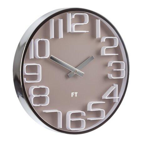 Future Time FT7010BR Numbers Dizájner falióra, átmérő: 30 cm