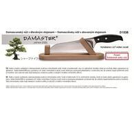 Damaster Ocelový nůž v dřevěném stojanu 18 cm