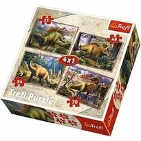 Trefl Puzzle Dinoszauruszok, 4 darabos