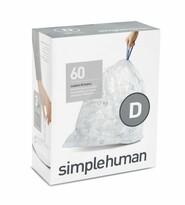 Simplehuman Saci pentru coșul de gunoi D 20 l, 60 buc.