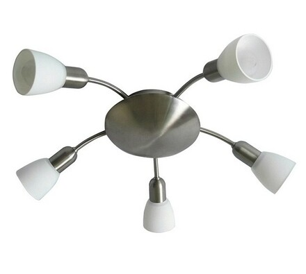 Stropní svítidlo Rabalux Soma 6305 chrom/bílá, bílá + chrom, pr. 53 x 14,5 cm