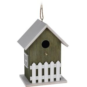Dřevěný ptačí domek zelený, 23 cm
