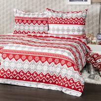 4home Vianočné bavlnené obliečky Red Nordic