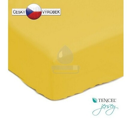 Nepropustné prostěradlo, žluté, 180 x 200 cm