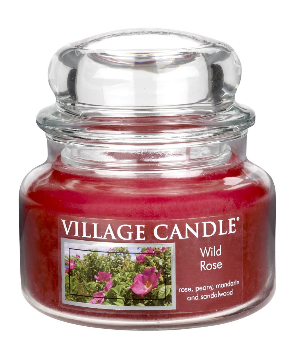 Village Candle Vonná svíčka ve skle, Divoká růže - Wild Rose, 269 g, 269 g