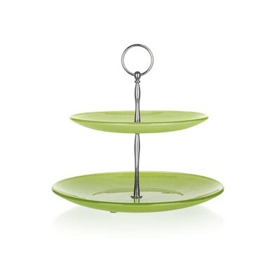 Banquet 2patrový stojan na cukroví, zelená