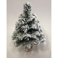 Zasněžený stromek v jutě Tiga, 30 cm