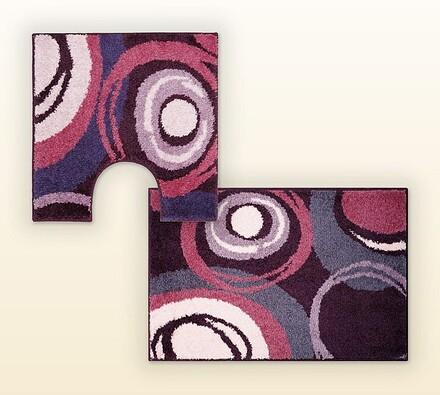 Koupelnová předložka + WC předložka Grund PACIOS, , fialová
