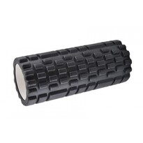 Fitness walec do masażu czarny, 34 x 14 cm