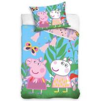 Detské bavlnené obliečky Prasiatko Peppa Na lúke, 140 x 200 cm, 70 x 90 cm