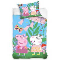 Gyermek pamut ágynemű – Peppa Malac – A réten, 140 x 200 cm, 70 x 90 cm